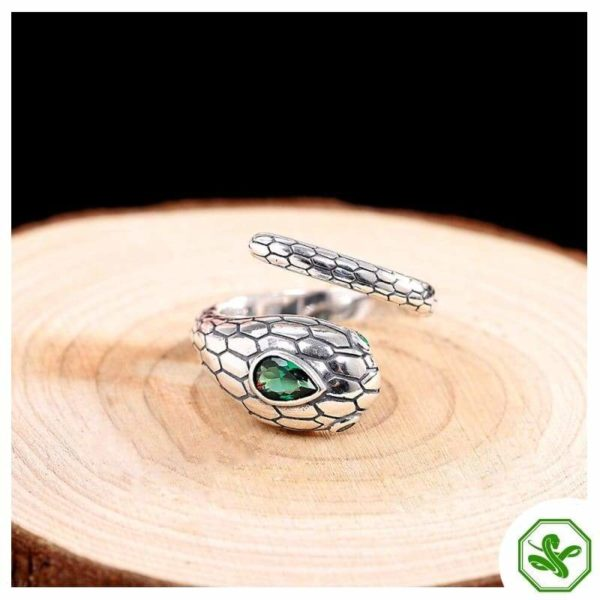 real-silver-snake-ring 3