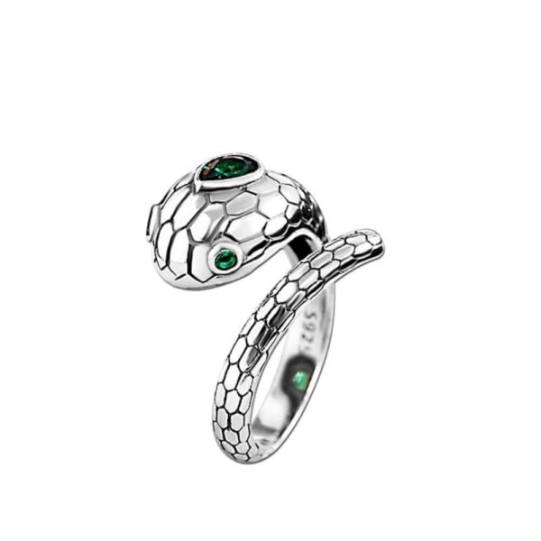 real-silver-snake-ring 1
