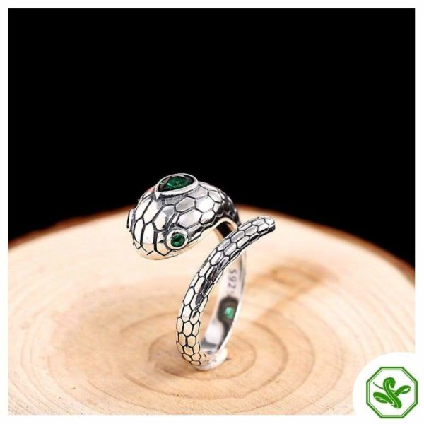 real-silver-snake-ring 2
