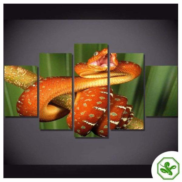 realistic snake painting orange
