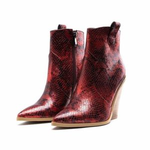 Red Snake Print Boots 1