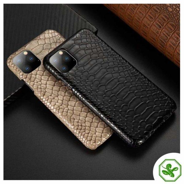 Snakeskin iPhone Cases Black & Beige