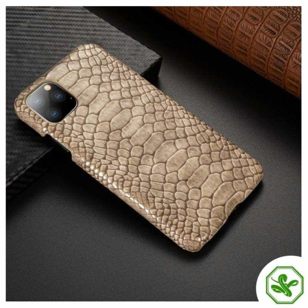 Snakeskin iPhone Case Beige