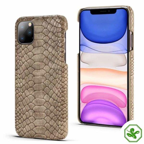 Beige Snakeskin iPhone Case