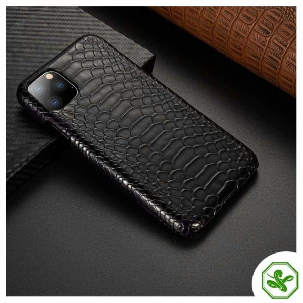 Snakeskin Iphone Case Black