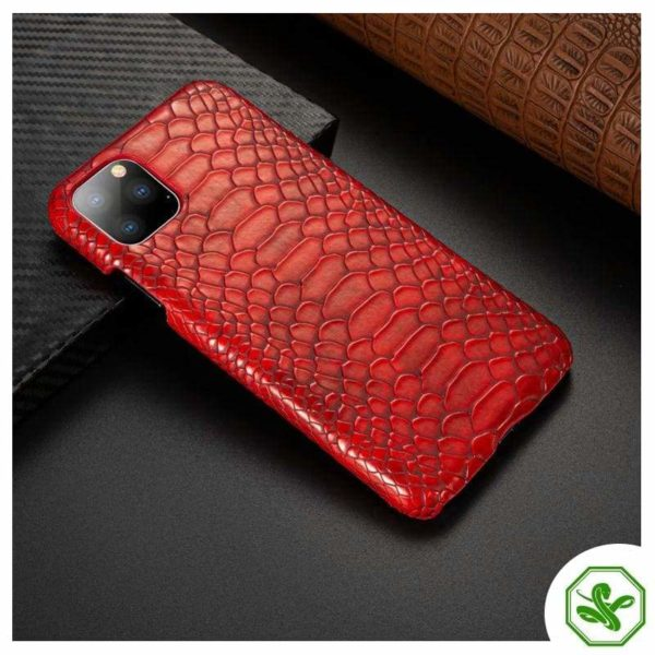 Snakeskin iPhone Case Red