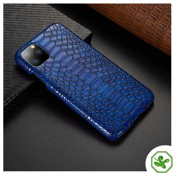 Snakeskin iPhone Case Blue