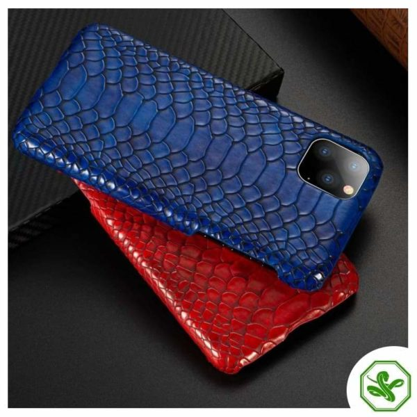 Snakeskin iPhone Cases Red and Blue