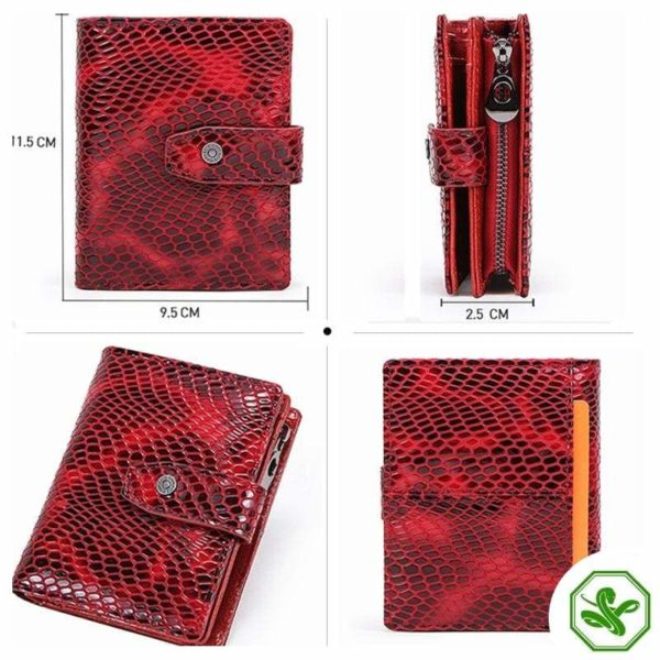 Red RFID Ladies Wallet