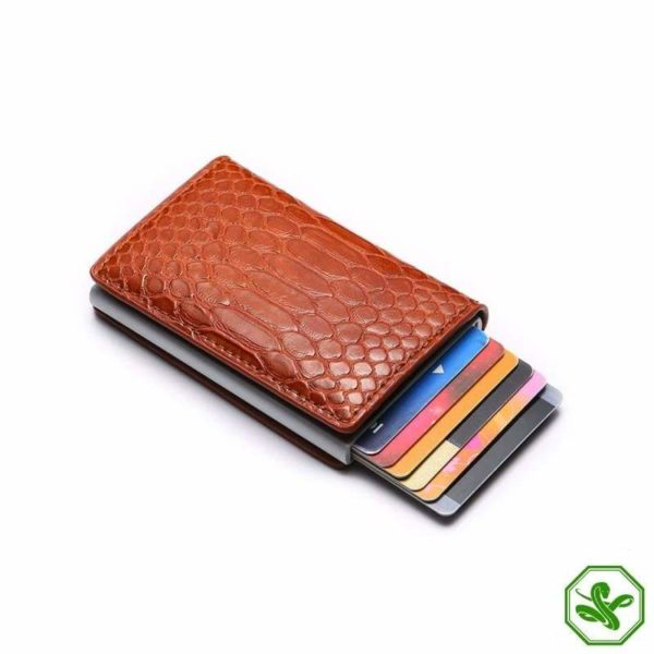 RFID Protection Wallet Brown