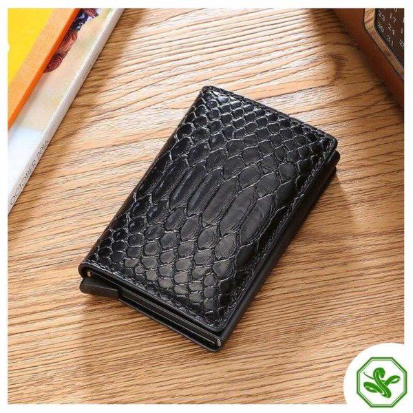 Black RFID Protection Wallet Women