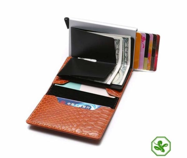 RFID Protection Wallet Brown Color