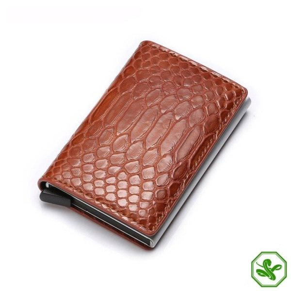 Brown RFID Protection Wallet