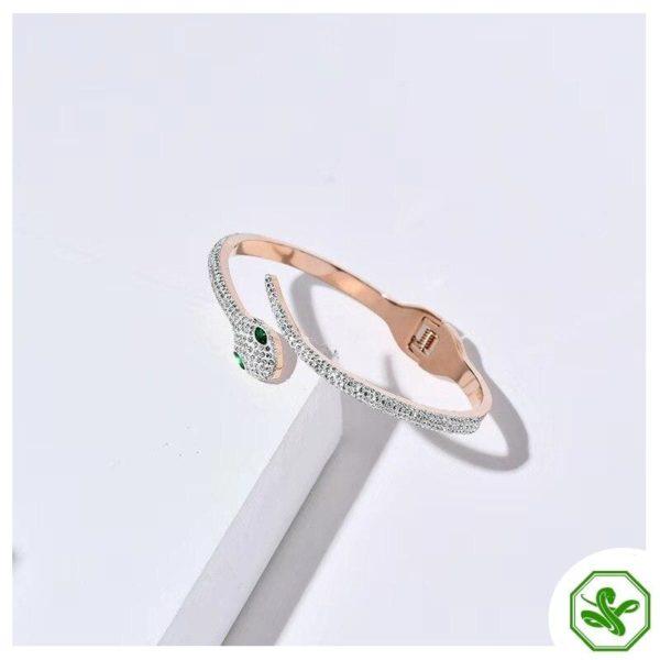 rhinestone snake bracelet woman