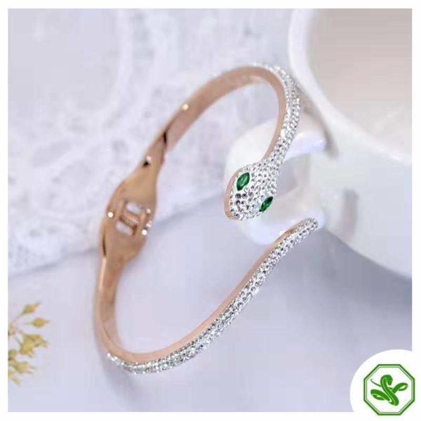 rhinestone snake bracelet for woman