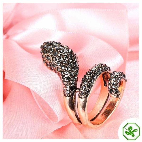 pink steel snake ring