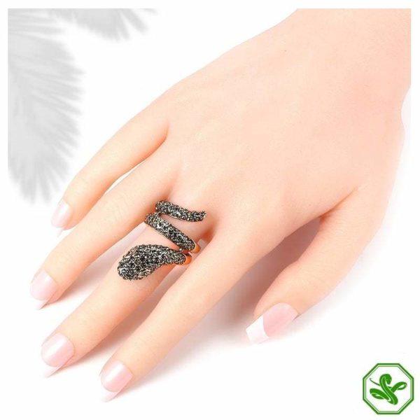 beautiful snake ring