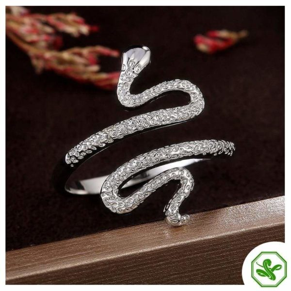 silver-diamond-snake-ring 4
