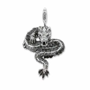 Snake Pendant Silver Dragon 1