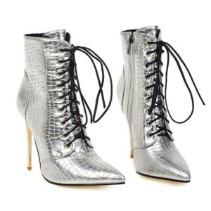 snake print heel boots