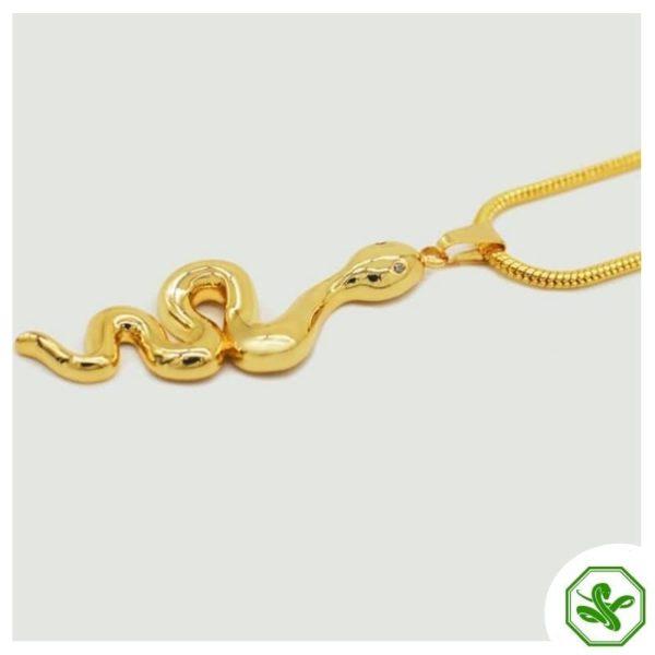 gold snake pendant steel