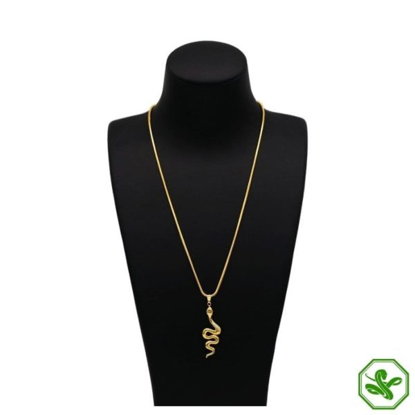 snake necklace gold for women
