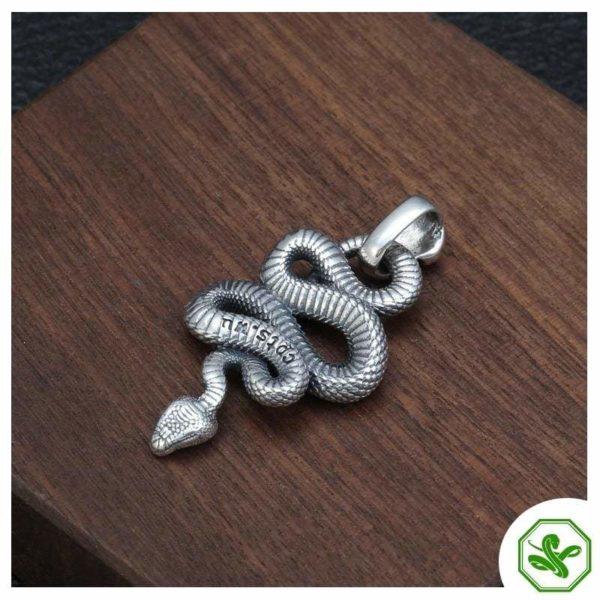 skull snake pendant