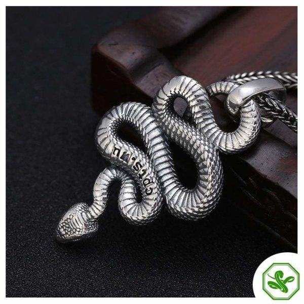 snake pendant silver