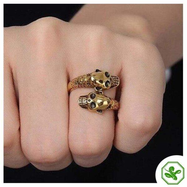 skull-and-snake-ring 3
