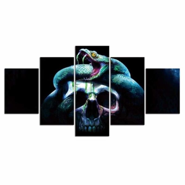 Skull and Snake Painting