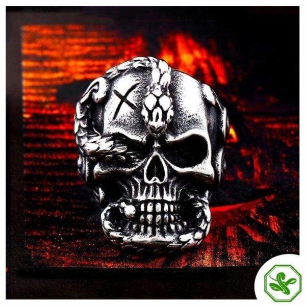 Skull Snake Ring 2