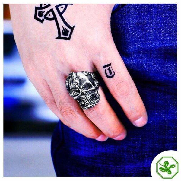 Skull Snake Ring 5