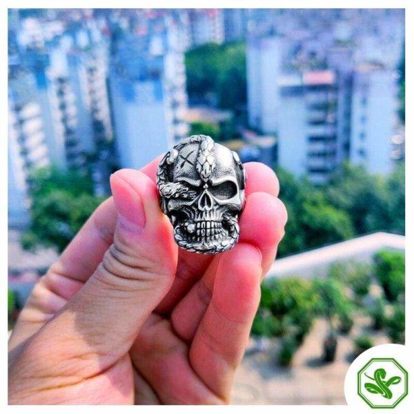 Skull Snake Ring 6