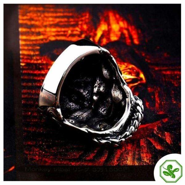 Skull Snake Ring 4