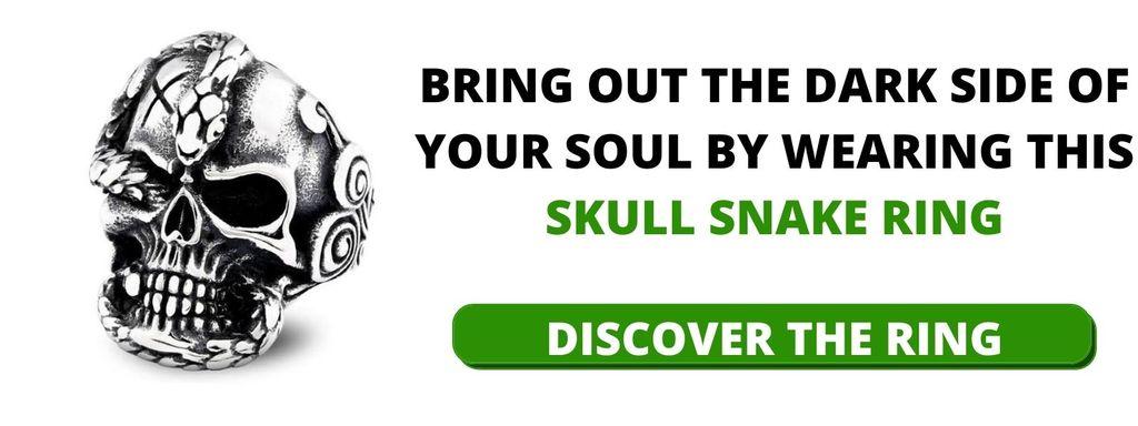 Skull Snake Ring