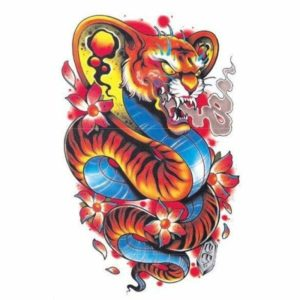 Snake and Tiger Tattoo 1