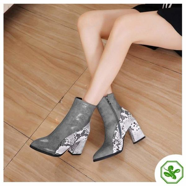 Snake Ankle Boots 9