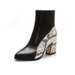 Snake Ankle Boots 1