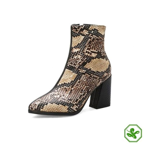 Snake Ankle Boots 4