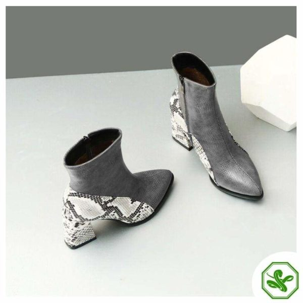 Snake Ankle Boots 10