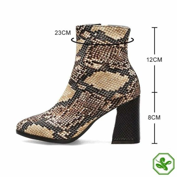 Snake Ankle Boots 5