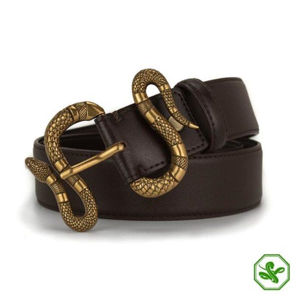 brown snake belt buckle