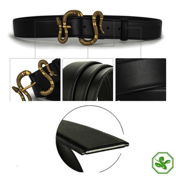 leather snake belt buckle