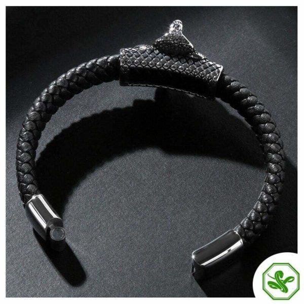 leather snake bracelet cobra for men