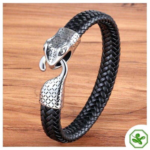 men snake bracelet ouroboros