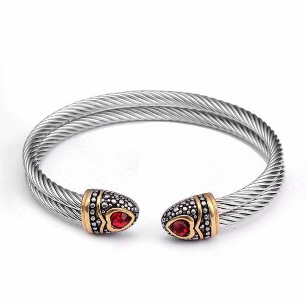 ruby hear snake bracelet