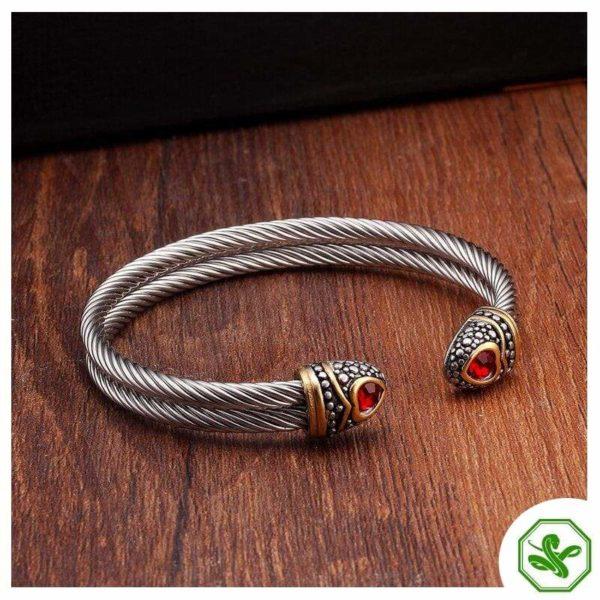 red heart snake bracelet