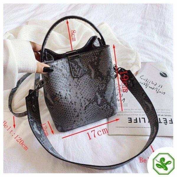 Snake Bucket Bag 9