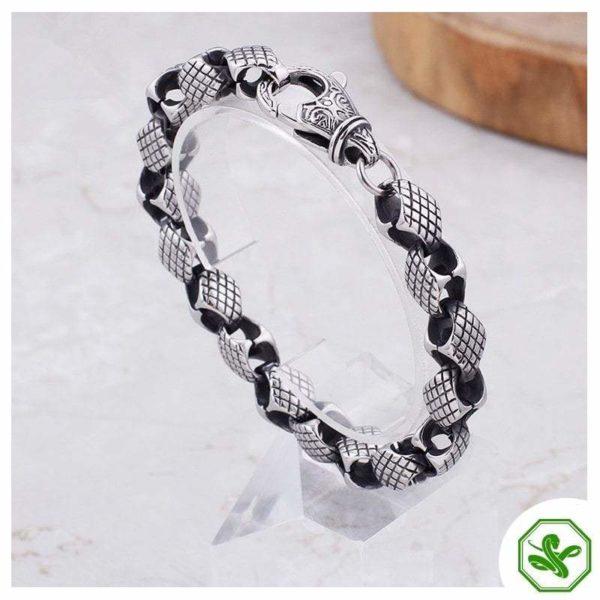 snake bracelet steel chain
