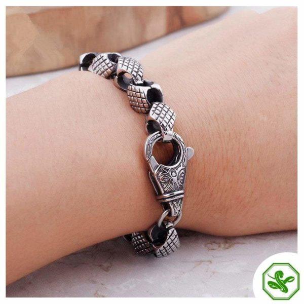 snake bracelet steel chain for man